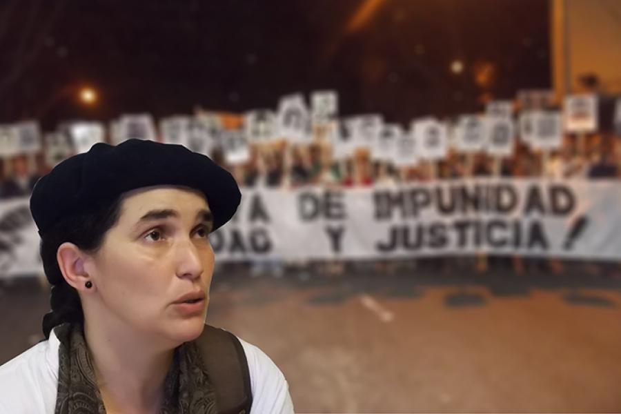 """Fernanda Aguirre (DDHH): """"Los responsables de crímenes de lesa humanidad están sueltos y nuestros compañeros desaparecidos"""""""
