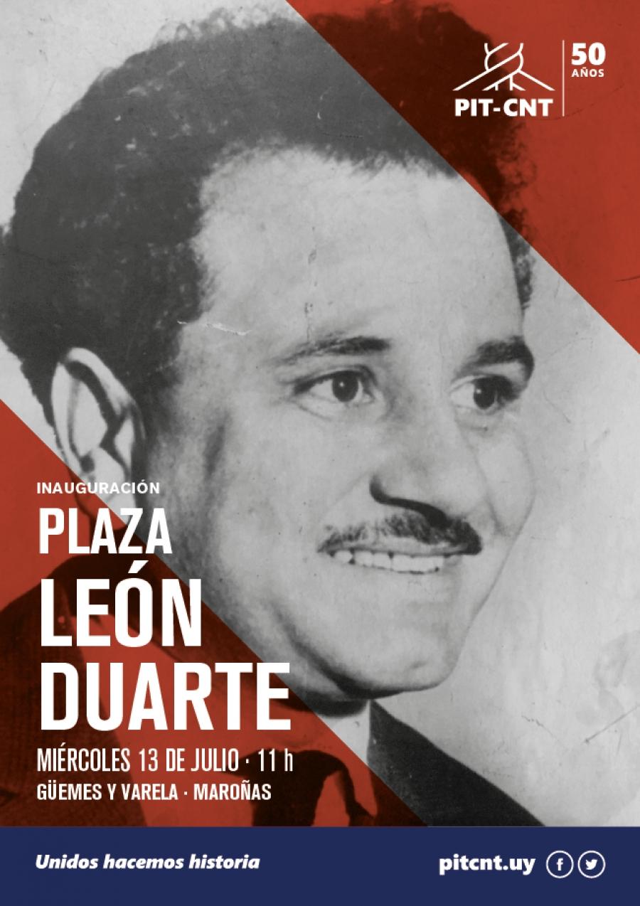 Inauguración de la Plaza León Duarte